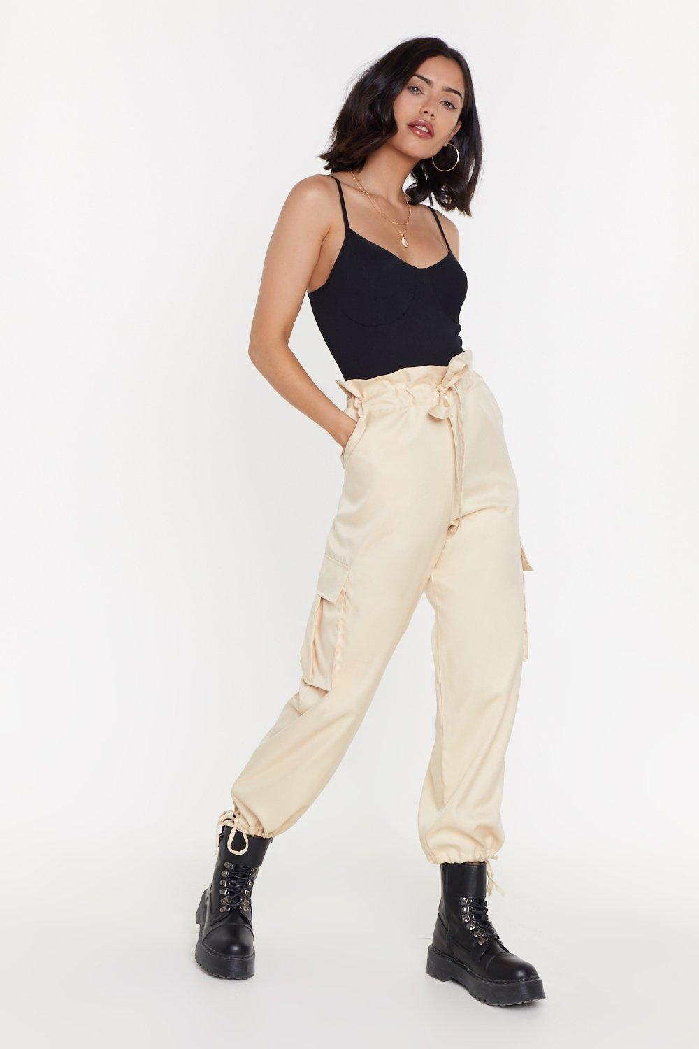 Paperbag Waist Cargo Pants by Nasty Gal