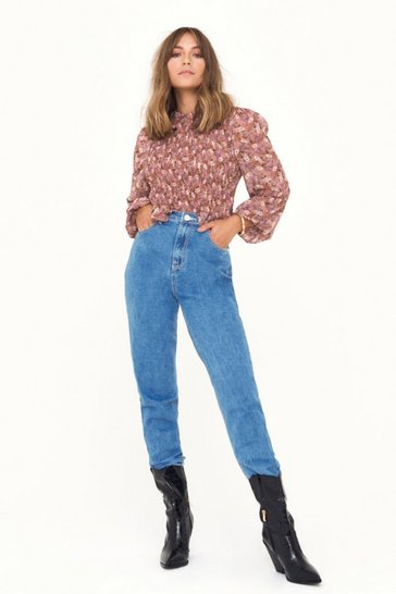 Mid blue Leg It Mid-Rise Mom Jeans