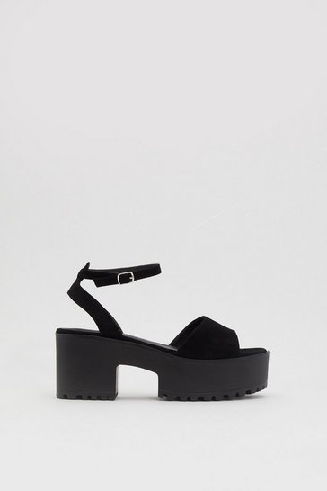 Womens Black Love So High Platform Sandals