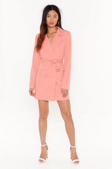 Womens Coral Trailblazer Belted Mini Dress