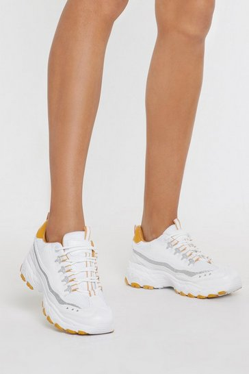 Womens Yellow Trainers Out Chunky Tread Trainers