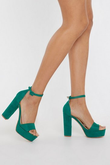 Womens Jade Your Love Keeps Lifting Me Faux Suede Heels