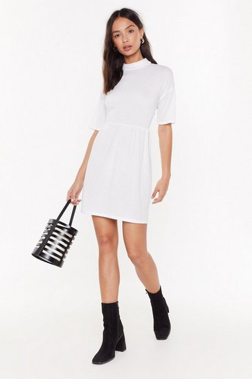 Womens White Living the High Life Fit & Flare Dress