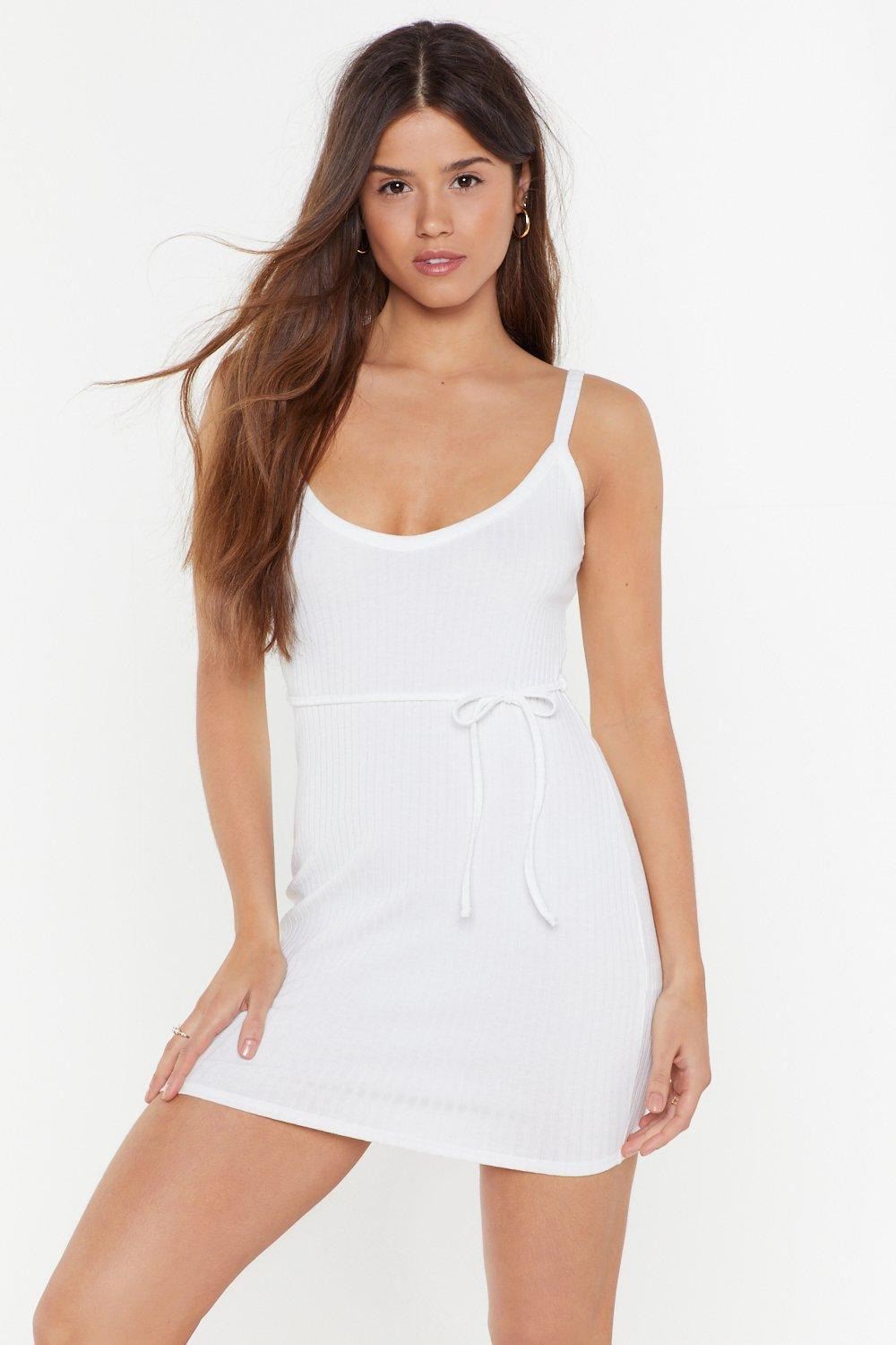 To Tie for Ribbed Mini Dress