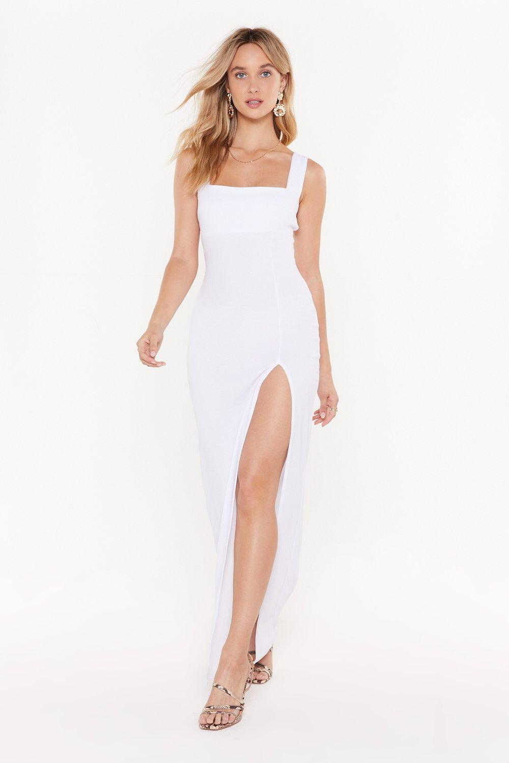 Square With Me Maxi Dress