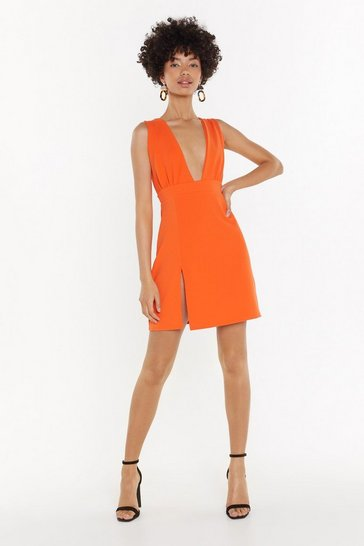 Womens Orange Deep On Dancing Mini Dress