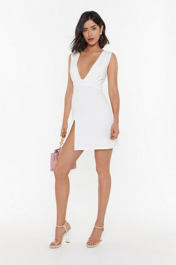 Womens White Deep on Dancing Mini Dress