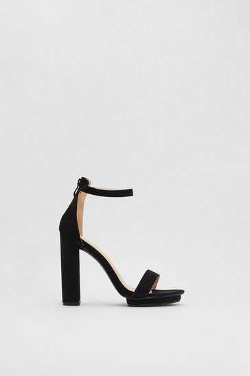 Womens Black High There Platform Heels