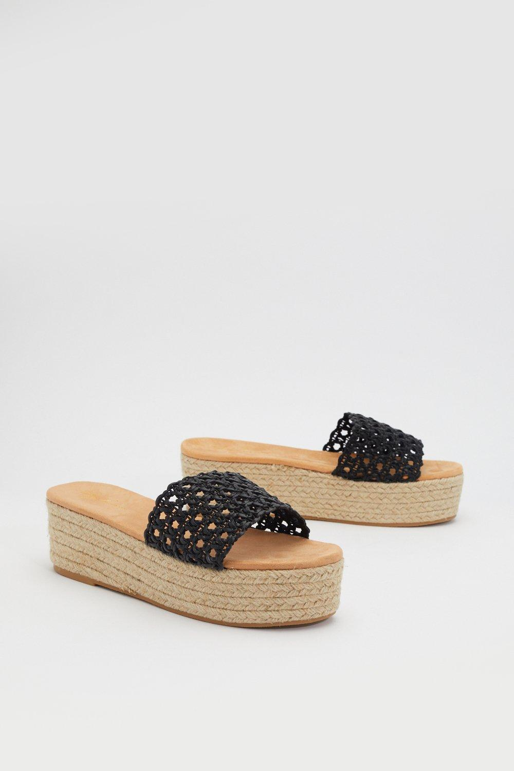 Espadrille It Home Weave Sliders by Nasty Gal