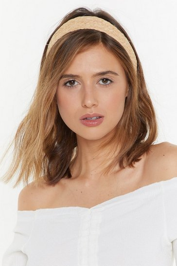 Womens Natural Hold Your Head Up Straw Headband
