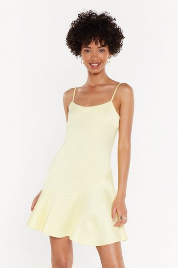 Womens Lemon So Vain Satin Dress