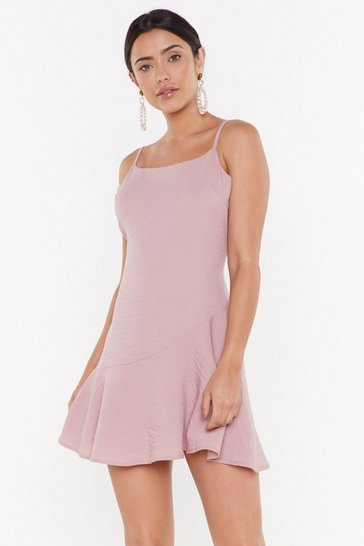 Womens Blush So Vain Linen Mini Dress