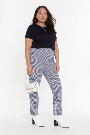 Womens Black Ging 'Em What They Want Plus Tapered Trousers