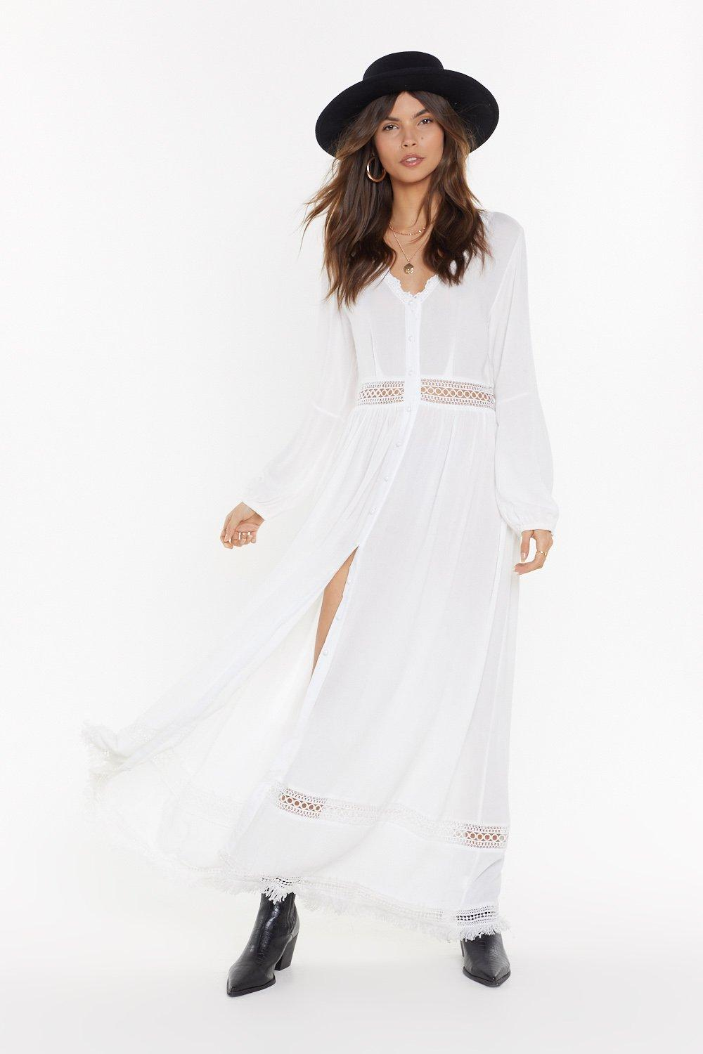 With My Hole Heart Ladder Maxi Dress