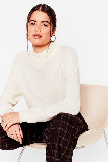 Ivory Knit Callin' Me Relaxed Jumper