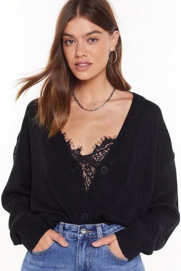 Black For the Hell of Knit Cardigan