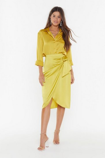 fde14a3061168 Give It Tie Satin Wrap Skirt