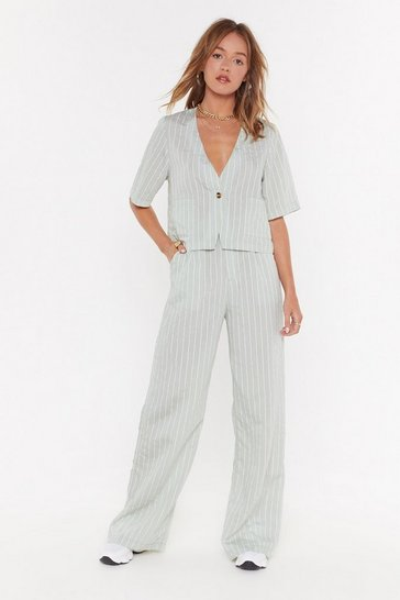Womens Sage Line Down With Me Wide-Leg Trousers