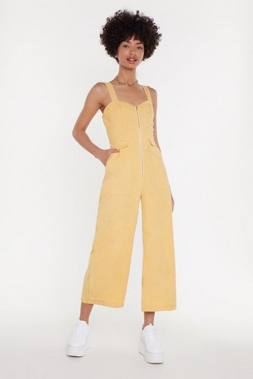 Lemon Who Do You Think You're Kidding Corduroy Jumpsuit