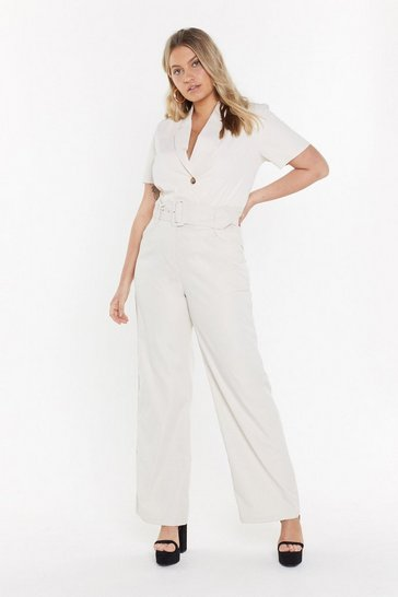 Womens Ecru Heart-belt Promises Wide-Leg Trousers