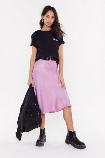 Womens Lilac Sleek Havoc Bias Cut Satin Skirt