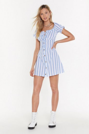 Womens Blue Give It To Em Straight Mini Dress