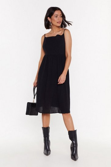 Womens Black Did It Ever Cross Your Mind Midi Dress