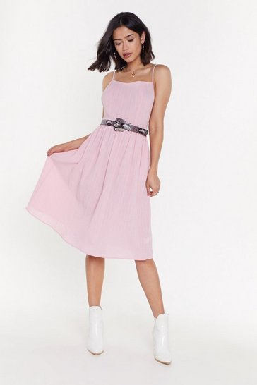 Womens Pink Did It Ever Cross Your Mind Midi Dress
