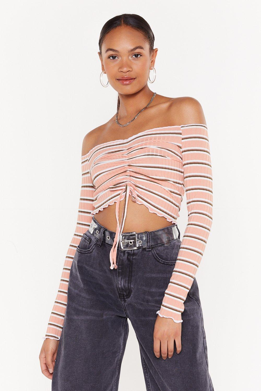 great deals clients first cheaper Dressed to the Lines Striped Ruched Top | Shop Clothes at Nasty Gal!
