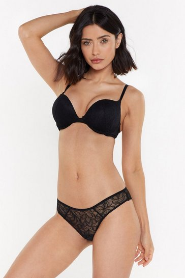 Womens Mix & Match Black Lace Super Push Up Bra