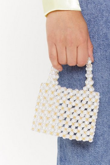 Womens Yellow WANT Mixed Messages Mini Beaded Bag