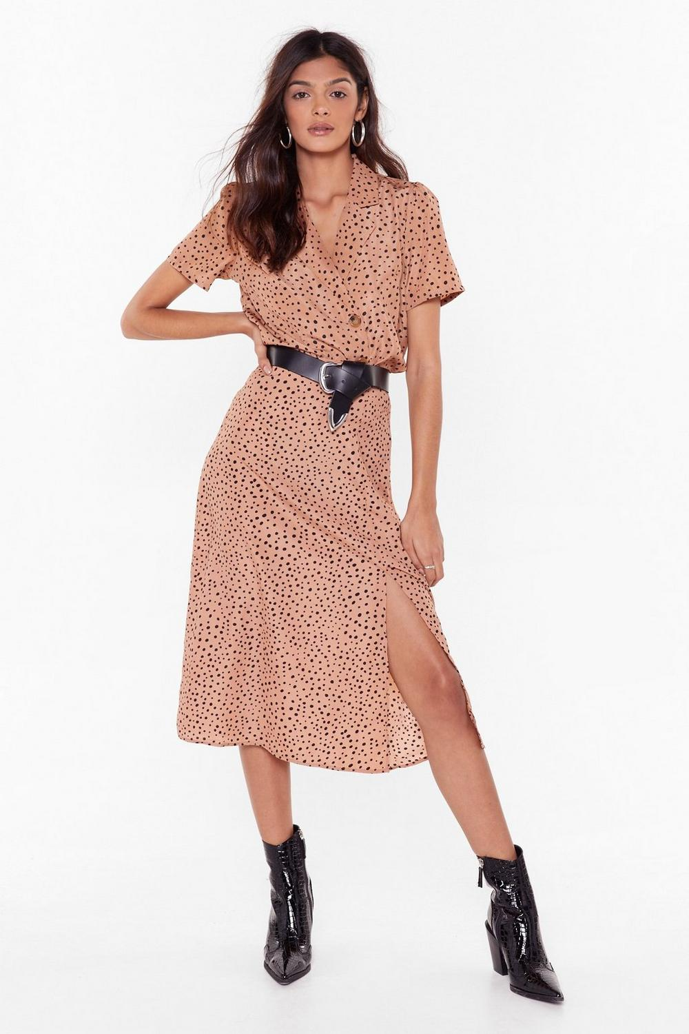 Spot You Looking At Bias Cut Midi Skirt by Nasty Gal