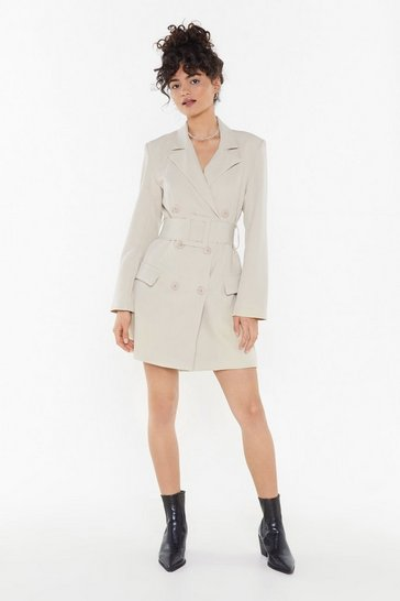 Womens Stone Hella Good Mini Blazer Dress