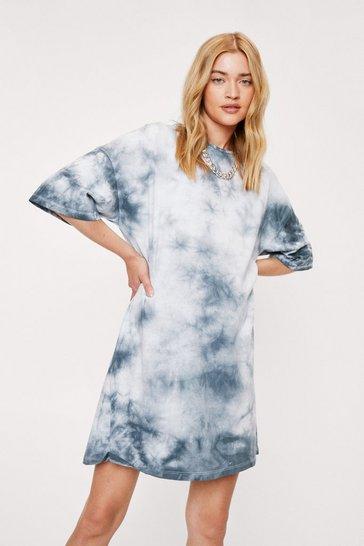 Black Not On My Acid Wash Tee Dress