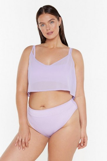 Womens Lilac Sittin' On the Dock of the Bay Cover-Up Plus Top