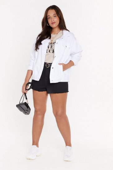 Womens White The Grand Oversize Denim Jacket