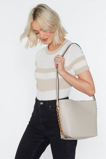 Womens White WANT Get Out of Chain Shoulder Bag