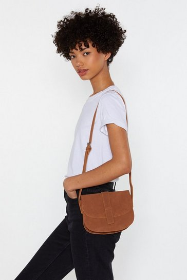 Womens Tan WANT Hold Everything Faux Suede Crossbody Bag