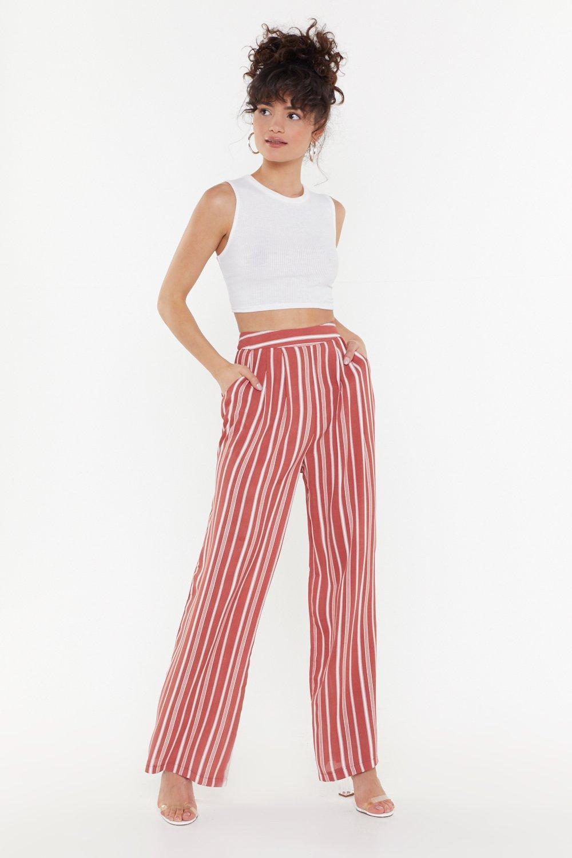 Stripe Wide Leg Pants by Nasty Gal