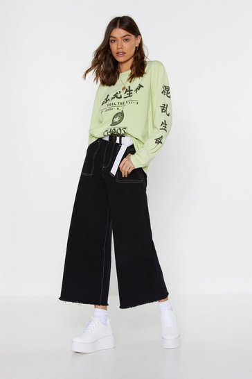 Womens Neon-green Feel the Fire East Asian Graphic Tee