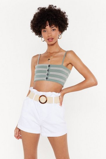 Hold the Line Striped Crop Top