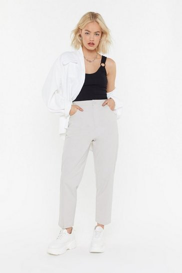 Womens Ecru Linen My Hopes on You Tapered Pants