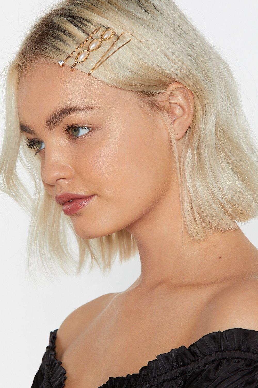3 Pack Gold Hair Clips by Nasty Gal