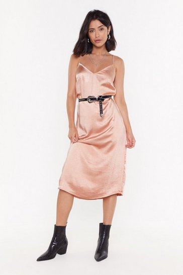 Womens Apricot Sleek Like Me V-Neck Midi Dress