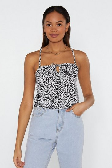 Womens White Dot and Ready Dalmatian Cami Top