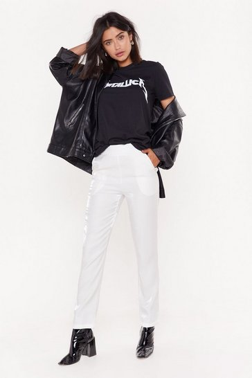 White Suit Up Slim Pants
