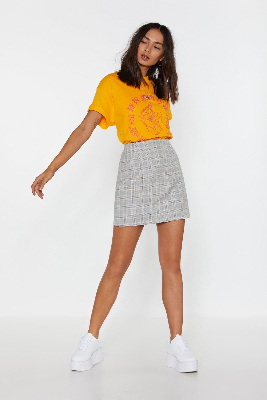 Grey Check Mini Skirt | Nasty Gal