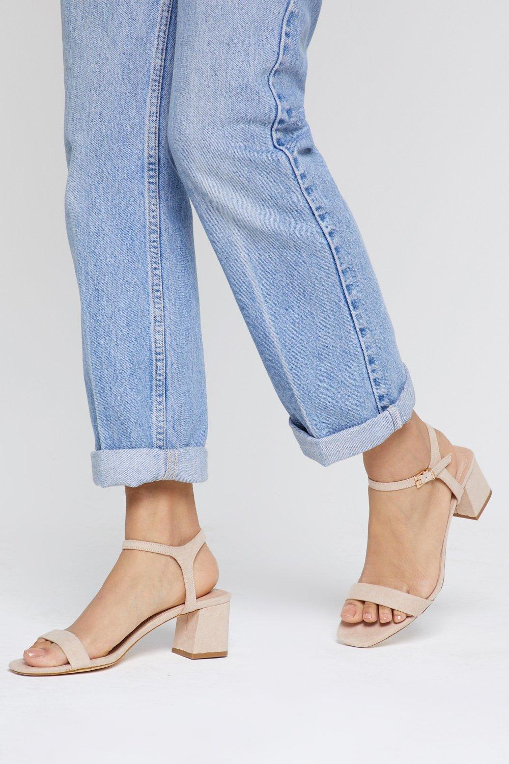 A Low It Flare Block Snadals by Nasty Gal
