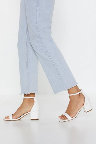 White There's No Stopping You Faux Leather Sandals