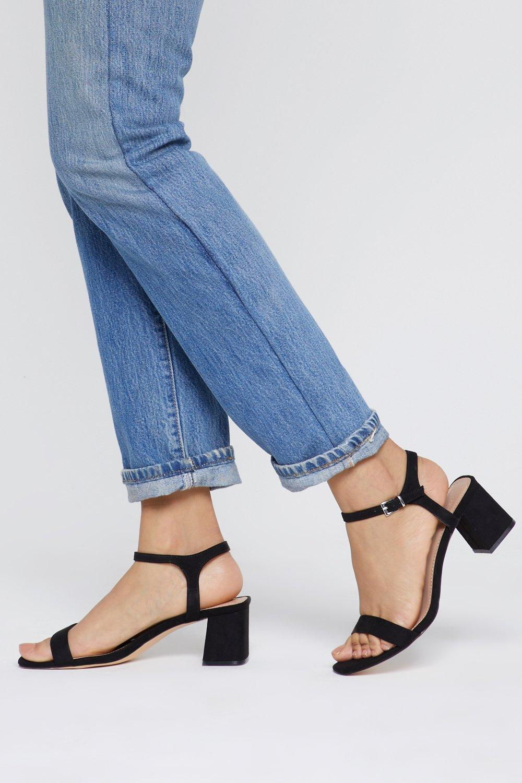 A Low It Flare Block Heel Sandals   Nasty Gal